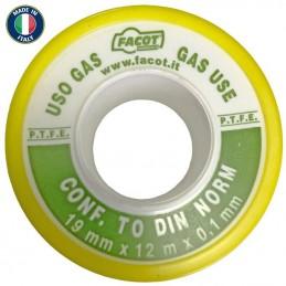 Banda teflon pentru gaz 19x0.1mm 12 metri Italia