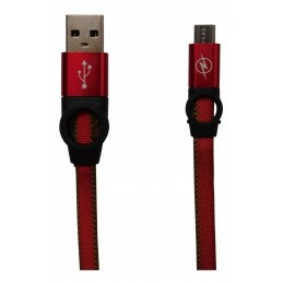 Cablu USB microUSB cameleon - 1M Maro