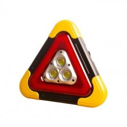 Lanterna multifunctionala HB-7709, forma de triunghi, incarcare solara, LED