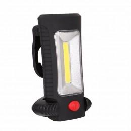 Lampa de lucru protabila LED 3W COB magnetica, carlig, rotativa