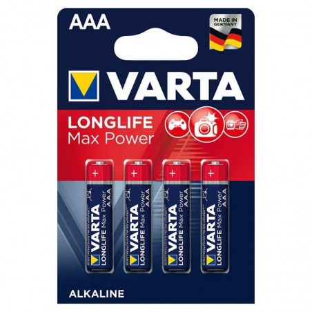 Set 4 baterii alcaline LR03 MAX POWER VARTA