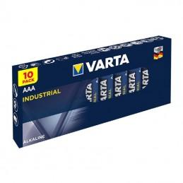 Set 10 baterii alcaline LR03 AAA Industrial Pro Varta