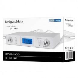 Radio FM Bluetooth LCD 220V sau cu baterii 2xAA KM0817