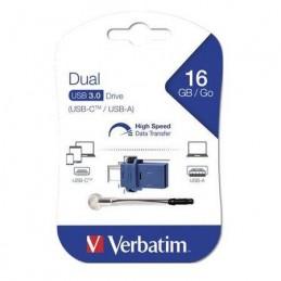 Memorie USB Verbatim 16 GB Store & Go USB Flash Drive, USB-C/USB-A