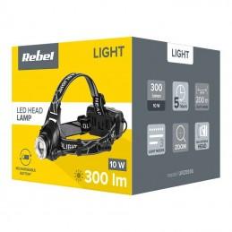 Lanterna de cap cu acumulator Li-Ion 2x3.7V 3Ah 10W REBEL 300lm