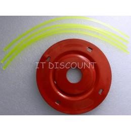 Tambur mosor trimmer cu fir 2.4mm 12cm rosu metal