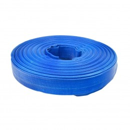 Furtun plat din PVC refulare pompa 1 tol 50m albastru insertie panza