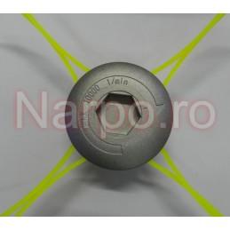 Tambur Mosor trimmer cu fir 2.4mm cap metal GRI 73mm