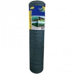 Plasa umbrire 2 x 25 m - verde - 40 g/mp