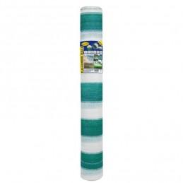 Plasa umbrire 1.5 x 10 m - verde + alb - 80 g/mp