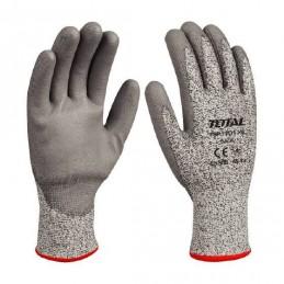 Manusi protectie TOTAL INDUSTRIAL, rezistente la taiere, poliuretan/HPPE/textil, marime XL