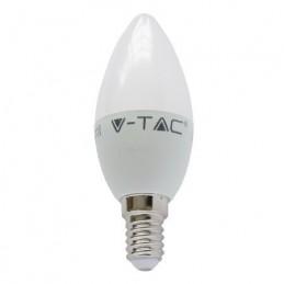Bec led E14 6W 2700K alb cald, tip lumanare V-TAC, SKU-4215