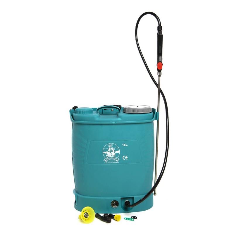 Pompa de stropit electrica Pandora 18L cu acumulator 12V 8A, variator presiune, portocalie