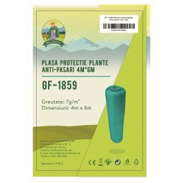 Plasa protectie plante anti-pasari 4x6m 7g/m2 Micul Fermier