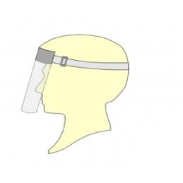 Viziera simpla cu banda elastica pentru fixare pe cap