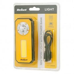 Lampa atelier mini 300 lm cu powerbank Rebel