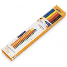 Set batoane silicon colorate 7mm 140mm 16buc 96g Steinel
