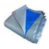 Prelata impermeabila rezistenta UV, 6x8 metri, 180 g/mp, inele de prindere, argintiu-albatru, laminata
