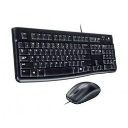 Tastatura + mouse cu fir Kit Logitech Wired Desktop MK120 USB 2.0