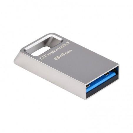 Memorie USB Kingston DataTraveler Micro, 64GB, USB 3.1/3.0, Metal DTMC3/64GB