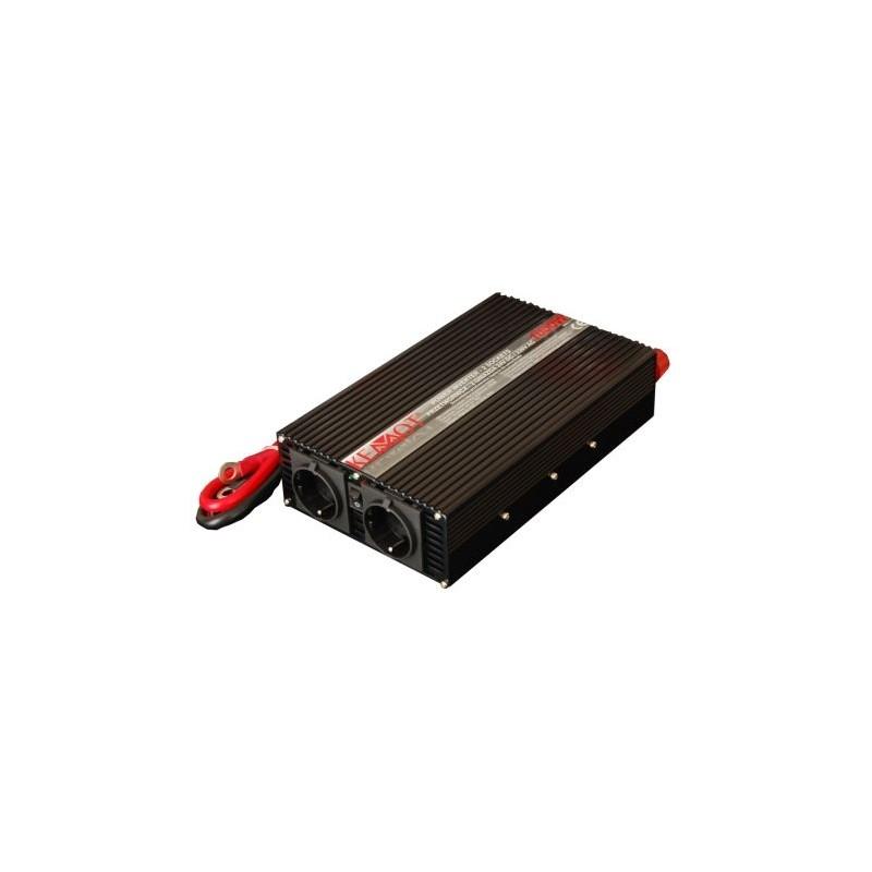 Invertor de tensiune Kemot URZ3170 24V/230V 1000W, 2 iesiri priza shuko