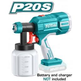 Pistol de vopsit 800ml, 600ml/min, 20V, Li-Ion, TOTAL Industrial, nu include acumulator si incarcator