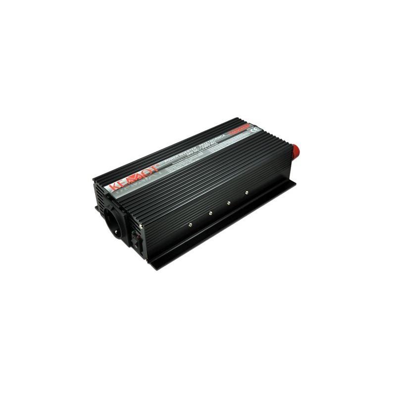 Invertor de tensiune Kemot URZ3166 1000W 24VDC/230VAC priza shuko