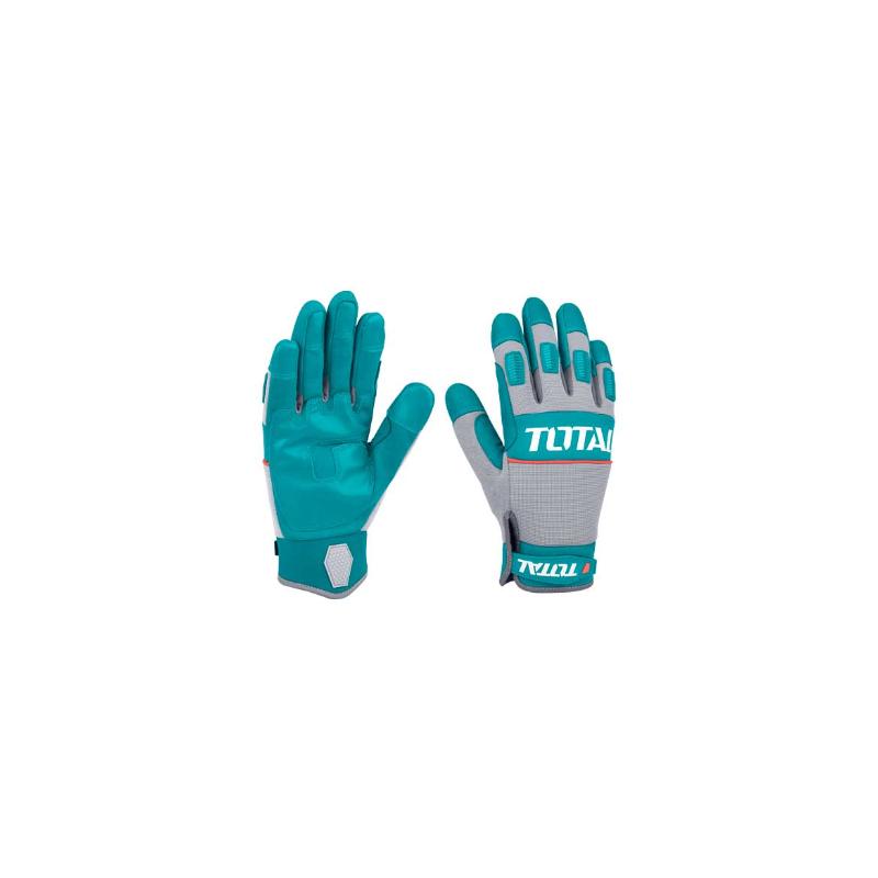 Manusi protectie pentru socuri mecanice Total, marime XL, material cauciuc