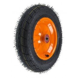 Roata roaba - TT - rulment - mixt - janta stea portocalie - 3.50-8 8PR, 6426458760367