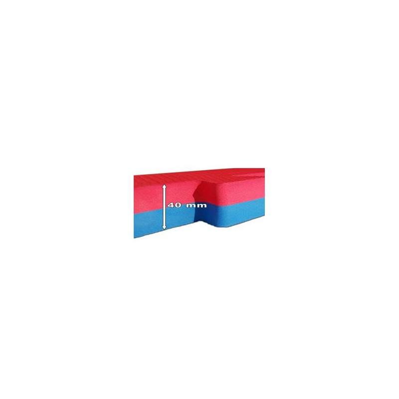 Saltele puzzle tatami 4cm 100cm rosu albastru